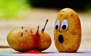 Potatoes and tomato sauce