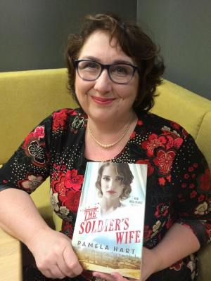 Pamela Hart at The Soldier's Wife book launch